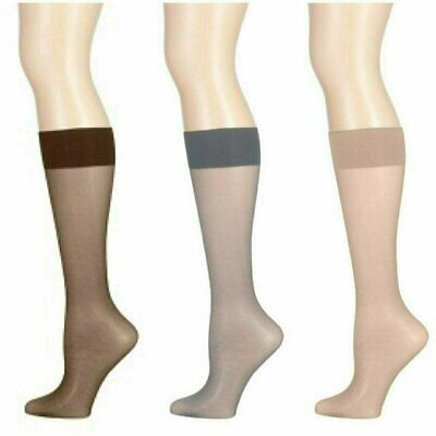 12 Women Nylon Sheer Knee Highs Sock Stocking Wholesale Hosiery One Size Color