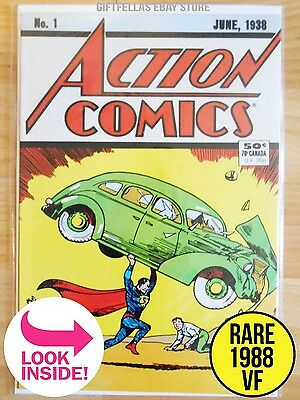 ACTION COMICS #1 - RARE HI-GRADE - PROMO REPRINT (VF) 1988 Newsstand Edition