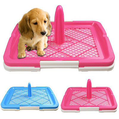 Newly Pet Toilet Portable Puppy Trainer Anti-skid Grid Potty Tray Dog Urinal S/L