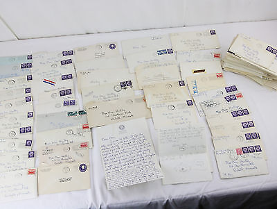 84 Vintage 1950s Love Letters Archive Handwritten NJ Ephemera Greeting Cards