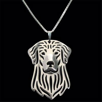 Golden Retriever Dog Pendant Necklace Silver  ANIMAL RESCUE DONATION