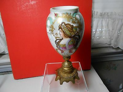 Sevres Miniature Hand Painted Urn With French Bronze Base Outstanding Look Wow