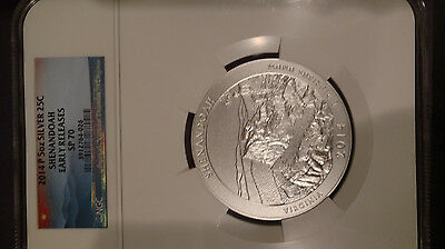 2014P Shenandoah ATB Silver 5 oz - NGC SP70 - Early Releases