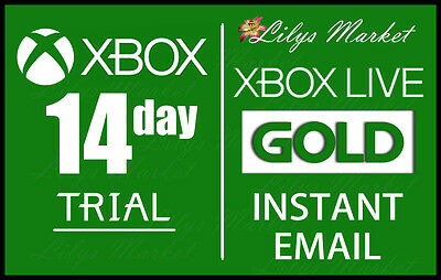 Xbox Live 14 Day (2 Weeks) Gold Trial Code Instant Dispatch 24/7 - Xbox One Only