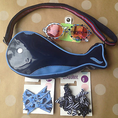 NEW Gymboree WHALE WATCHING Whale Purse Hair Clips Sunglasses 4 5 6 7 *lot of 4*