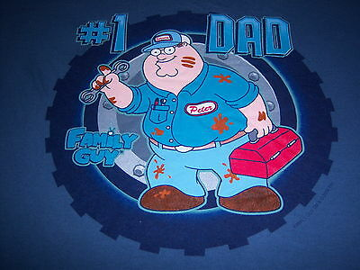 2009 licensed FAMILY GUY t shirt - PETER #1 DAD - tools toolbox - NEW NWOT - (L)
