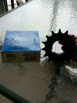 New Martin sprocket bored to size part  60Bs15 1 1/2