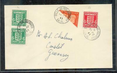 Channel islands GUERNSEY II HALVING RARE STAMP (R6566