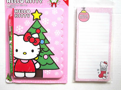 HELLO KITTY Christmas Magnetic List Pad & Diecut Diary W/Pen Brand NEW!