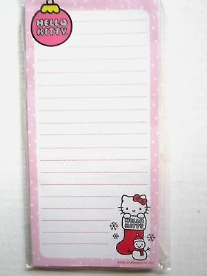 HELLO KITTY Christmas Magnetic List Pad 60 Lined Sheets 3+ Packaged Brand NEW!