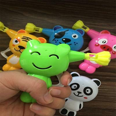 Kid Plastic Bubble Blaster Maker Blower Gun Toy With Different Animal Style WS-