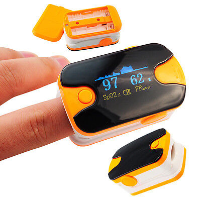 FDA US FREE SHIP LED Pulse Oximeter finger Tip Blood Oxygen Monitor SpO2 Lanyard