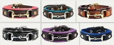 Noble Outfitters On The Bit Leather Snaffle Bracelet Horse Riding Apparel