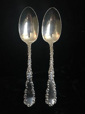 1890 Wallace RW & S Sterling Tea Spoons (2) Waverly Pattern No Mono