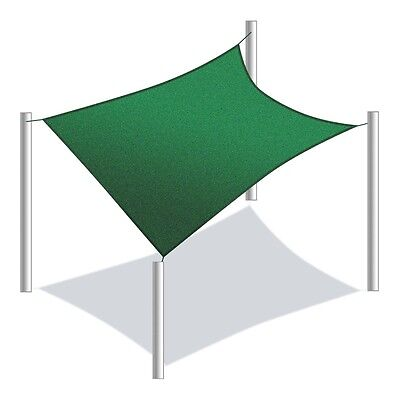 ALEKO Waterproof Sun Shade Sail Rectangle 20x16 Ft Canopy Tent Replacement Green