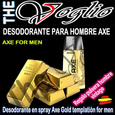 Desodorante AXE Gold Temptation para Hombre Spray 150 ml. REGALO PULSERA VINTAGE