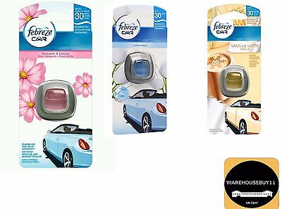 Fabreze Car Van Lorry Vehicle Vent Clip Air Freshener Cotton Fresh & Blossom UK