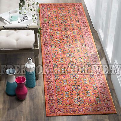 TALISH ALLOVER RUST VINTAGE PERSIAN LOOK RUG RUNNER 80x300cm **FREE DELIVERY**