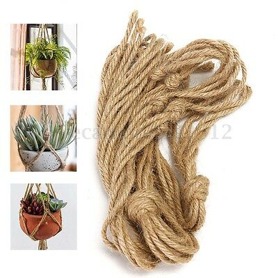 6 Style Handcrafted Knitting Macrame Jute Plant Hanger Pot Holder Basket Hanging