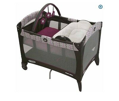 Portable Playard for Baby with Reversible Napper Changer Toddler Pack 'N Play