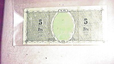 New Hebrides, 5 Francs, ND (1943), WWII,  VF +  Rare