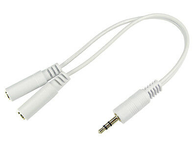 0.2Mtr 3.5Mm Stereo Male - 2 X Stereo Female Gold  White