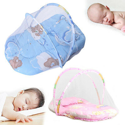 Baby Mosquito Insect Cradle Portable Folding Insect Bed Cushion Pillow Mattress