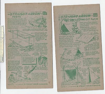 #27 Lot of 6 Diff 1952 NABISCO INJUN-UITY Cards Book #4 Cereal Straight Arrow