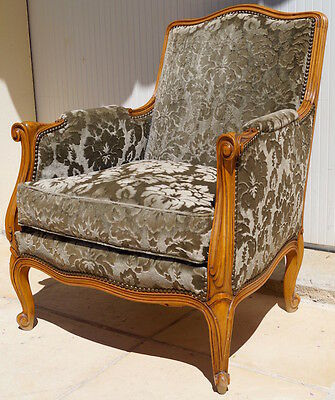 A Vintage French Louis XV Bergere Armchair inc Reupholstery (exc. fabric)