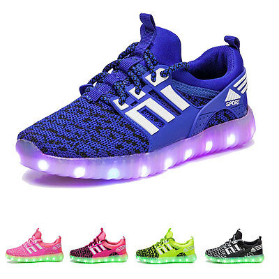 Children Boys Girls Running shoes Luminous Sneakers LED Light Up Kids LED Shoes