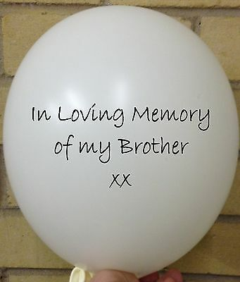 3 In Loving Memory of Brother, White Rememberance, Funeral, Memorial Balloon