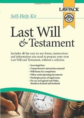 Last Will and Testament Kit by Richard Dew Kit Book The Cheap Fast Free Post