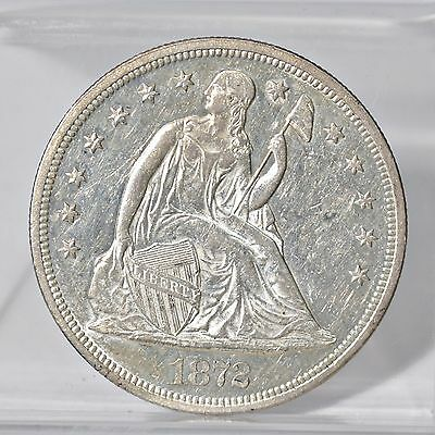 1872 Liberty Seated Dollar - Ch AU (#6620)