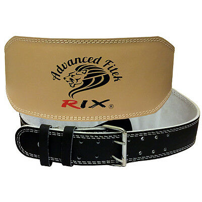 Rix Womens Leather Weight Lifting Belt Back Support Ladies Gym Training Fitness