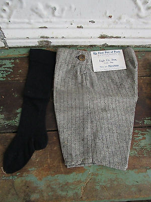 Antique Baby Boy Child wool Pants & Black High Socks Marx & hass Clothing