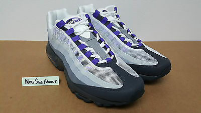 NIKE AIR MAX 95 No Sew Anthracite Pure Purple-Cool Grey-Wolf 511306 ... 21397397c