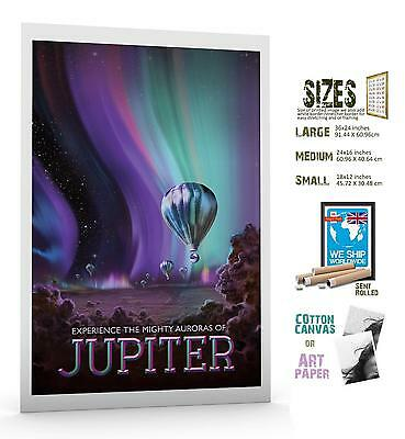 Jupiter Experience NASA Aurora Space Travel Poster Art Print Picture A3 A4