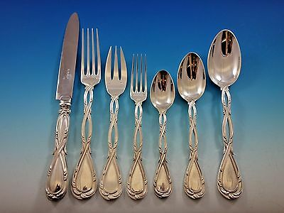 Royal by Puiforcat Sterling Silver Flatware Set for 12 Service 96 Pieces Dinner