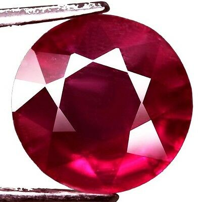 NATURAL ATTRACTIVE RED RUBY LOOSE GEMSTONES (10.3 mm) LARGE ROUND SHAPE