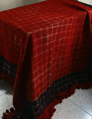 Embroidered Bed Cover Gypsy Bohemian Boho Chic Old Fabric Antique /925