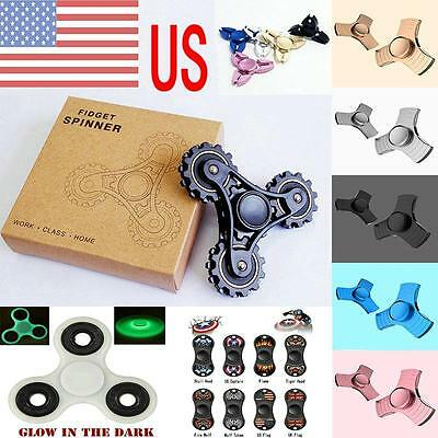 US 2017 NEW Fidget Spinner Hand Finger Focus Autism EDC Fast Bearing Stress Toys