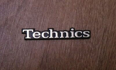 Rare Vintage Gold Technics Stereo HiFi Speaker Badges / Emblems