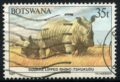 Botswana 1987 SG#632, 35t Rhino, Animal Definitive Used  #D48929