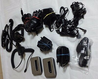 Box of 14 used Cell Phone cables and ear pieces