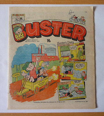 Buster 14 November 1981 Issue - British Weekly - Good Condition