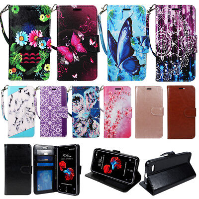 For LG Aristo, LV3, Phoenix 3, Fortune, Rebel 2, K4 (2017) Wallet Case Cover