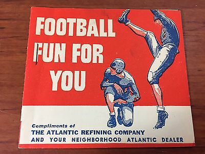 Vintage Rare 1930's Atlantic White Flash Gas & Oil Advertising Football Booklet