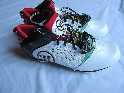 Warrior Adonis Lacrosse  man white/red/black  cleats shoes sz 8.5 Brand  New