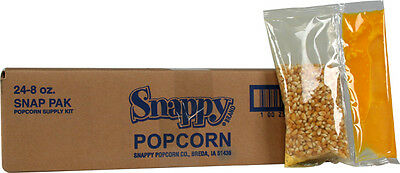 Snap-Paks Portion Pack  Popcorn Kit for 6 oz. Poppers  (24 - 8 oz. packs)
