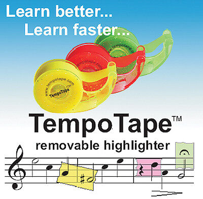 TempoTape - Removeable Highlighter Tape - Pack of 3 Dispensers